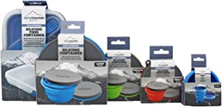 Alpine Mtn Gear 6 Piece Collapsible Silicone Containers with Lids. Perfect for Camping and Backpacking, Space-Saving, Lightweight, go-Anywhere Traveler. Perfect for On-The-go pet Bowls.
