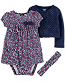 Carter's Child of Mine Baby Girls Long Sleeve Cardigan, Dress & Headband, 3pc...