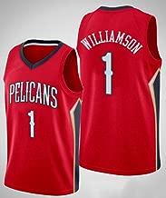 Herren Trikot New Orleans Pelicans #1 Zion Williamson Entwurfsauswahl f/ür die erste Runde 2019 Swingman Trikot Basketball Trikot