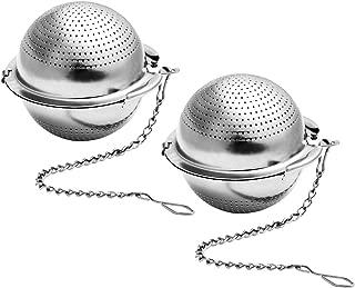 BESTONZON 2PCS Tea Strainer 2.2 Inch Ultra Fine 304 Stainless Steel Tea Infuser for Loose Tea