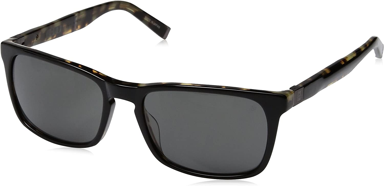 John Varvatos V513 Square Sunglasses, Black Tort, 18 mm