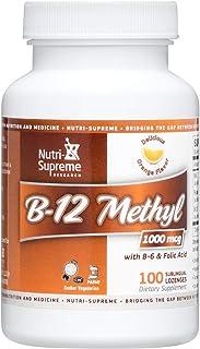 Nutri-Supreme Research Kosher B12 Lozenge (Methyl) W/ B6- Folic Acid and Biotin 100 Lozenges