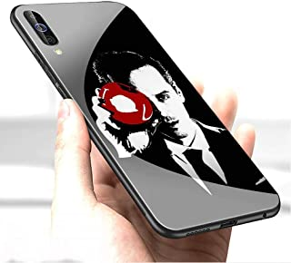 Luxury Cover for Samsung Galaxy A70 Phone Case,9H Tempered Glass Back Cover Soft Silicone Anti Scratch Bumper Design LC-152 221B Sherlock Holmes Protective Case