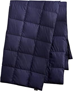 puredown Packable Down Throw Blanket, Down-proof Fabric, 50x70'', Navy, Duck