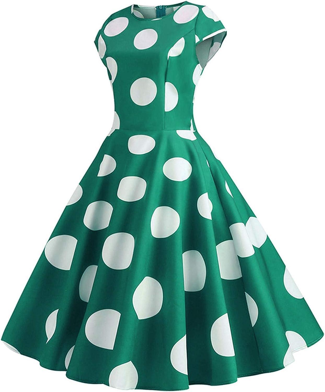 Aritone Womens Vintage Retro Shirt Short Mini Dresses Short Slee