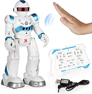 yeesport Kids Smart Robot Toy Educational Programmable Gesture Sensing Robot RC Robot Toy Remote Control Robot for Kids In...