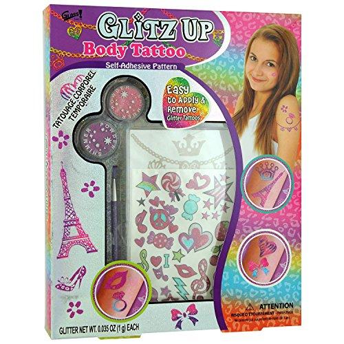 GLoss - Coffret de Maquillage pour petite fille - Spécial Tatouage - Collection Glitz Up
