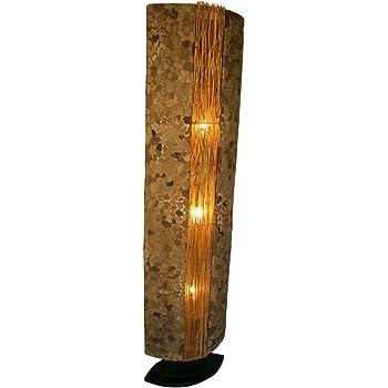 Guru Shop Lampadairelampadaire, Fait Main à Bali en Matériau Naturel, Pierre de Lave Modèle Lave 150 cm, Lerotin, Lampes sur Pied en Matériaux