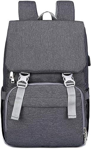 Sac à dos Mummy de grande capacité, sac à couches portable avec port de chargeHommest USB multifonction
