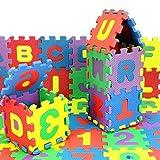 HuiBOYS Puzzlematte für Babys und Kinder, Spielmatte, Lernmatte, Kinderspielmatte, Schaumstoffmatte, Lernspielzeug Geschenk,5x5cm/12x12cm,36 Stück.