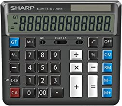 $78 » WXL Calculator Button Bank Financial Accounting Office Business 12-Digit Solar Computer Calculator (Size : Black)