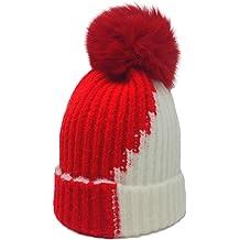 e08fe4ca7ae xsby Knitted Cozy Warm Winter Snowboarding Ski Hat with Pom Pom Slouchy Hat