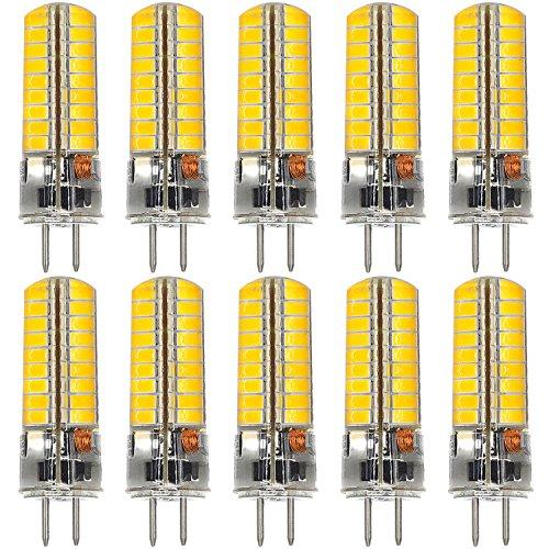 MENGS 10 Stück GY6.35 6W LED Lampe 72x5730 SMD Warmweiß 3000K AC/DC 12V Mit Silikon Mantel