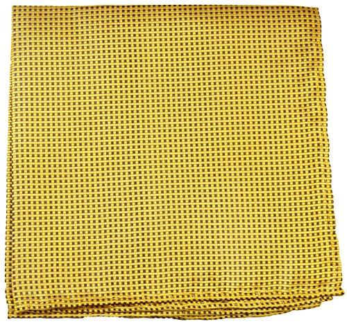 Paul Malone de carré de poche mouchoir 100% soie Or pois