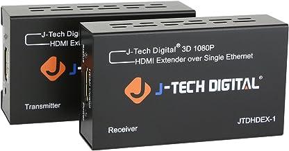 J-Tech Digital HDMI Extender By Single Cat 5E/6/7 Full Hd 1080P With Deep Color, EDID..
