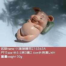 YAOHEHUA Sculpturen voor Huis Creatieve Toilet Leuke Piggy Ornamenten Simulatie Dier Model U