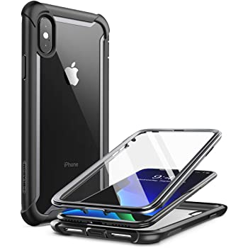 """i-Blason Ares Full-Body Rugged Clear Bumper Case for iPhone Xs Max 2018 Release, Black, 6.5"""""""