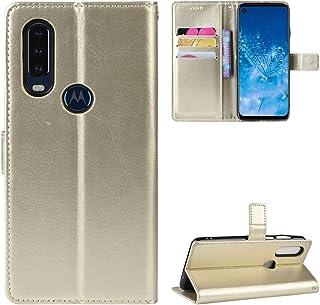 LODROC Motorola Moto One Action Case, TPU Leather Case Magnetische Cover [Card compartiment] [Stand functie], Schokbestend...
