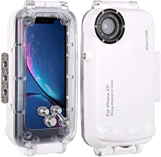 HAWEEL for iPhone XR Underwater Housing Professional [40m/130ft] Diving Case for Diving Surfing Swimming Snorkeling Photo Video with Lanyard (iPhone XR, White)