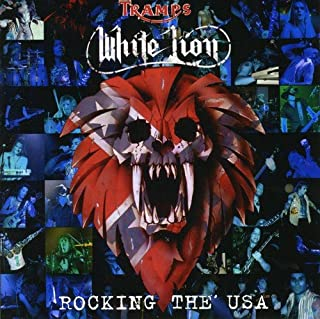 white lion rocking the usa