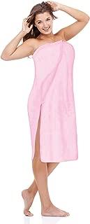 Luxury Spa Wrap Womens & Plus Size S-6X Snap Bath Towel Pink Black Colors