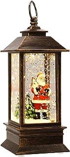 Uonlytech 2PCS Christmas Lantern Decorative Hanging Lamp Portable Battery Lantern Creative Night Light Xmas Holiday Party Decor Supplies