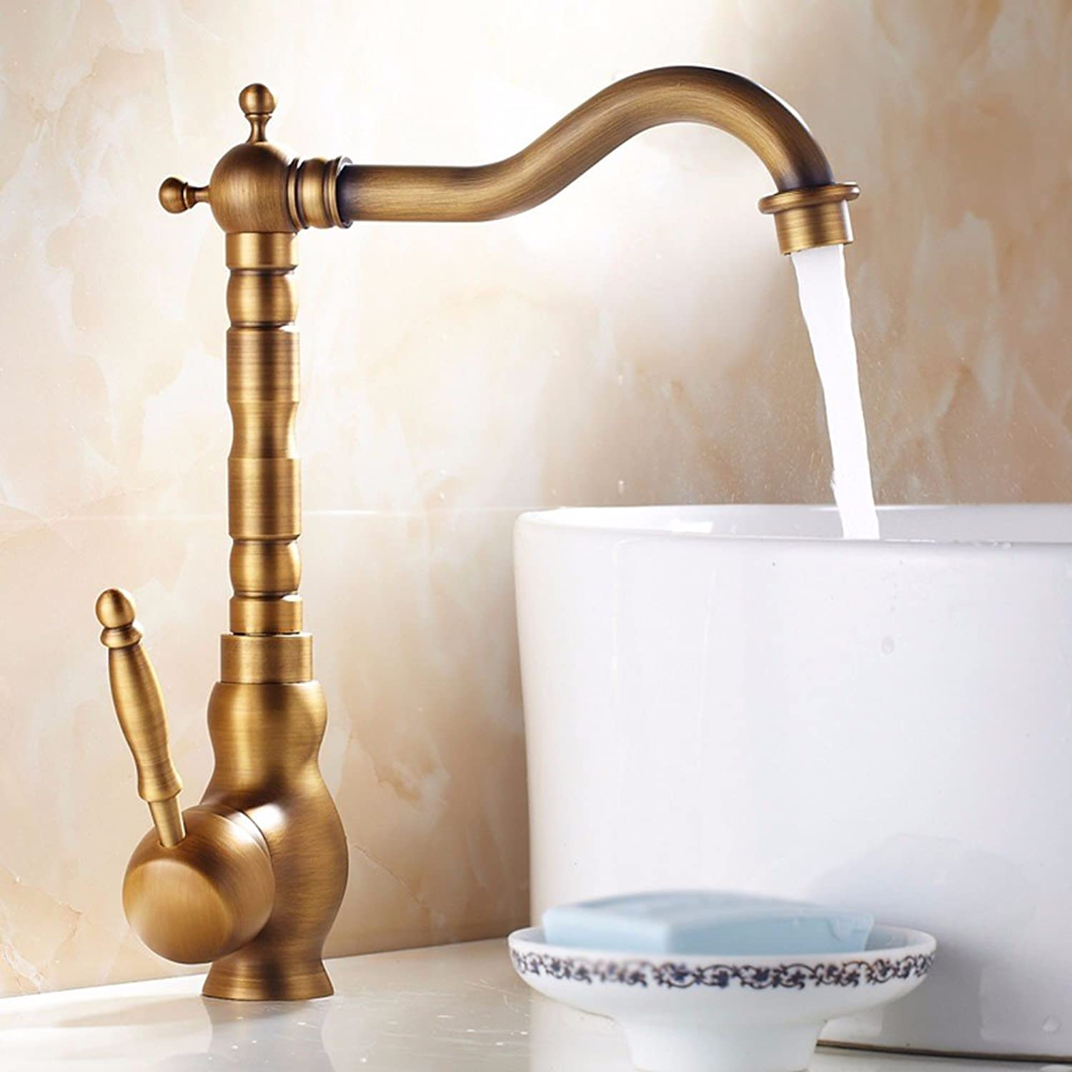 Hlluya Professional Sink Mixer Tap Kitchen Faucet Copper, hot and cold, the basin, Single Hole, redate, sink faucet 4