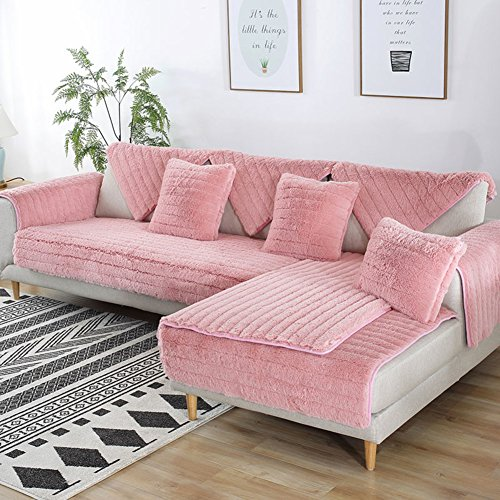 ZY&DD Plush Sofa Slipcover,Quilted Sofa Cover,Soft Durable Machine Washable Couch Cover 1-Piece-c 70x240cm(28x94inch)