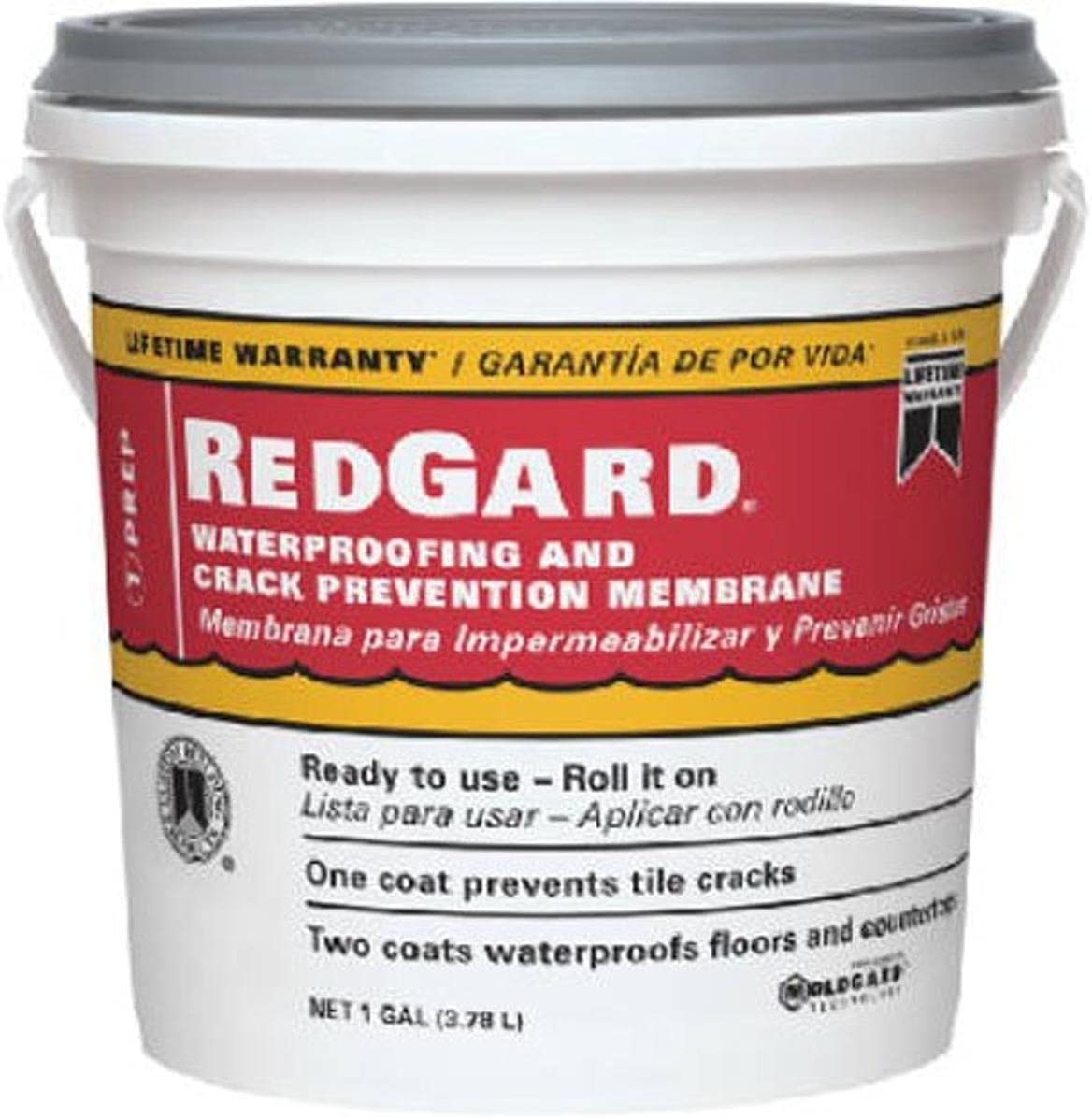 CUSTOM BLDG PRODUCTS LQWAF1-2 sold Miami Mall out Redgard gal 1 Waterproofing