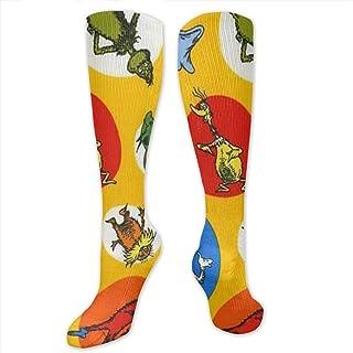 93eabf566fd704 Xayeu Celebrate Seuss Yellow Compression Socks Women Knee High for  Pregnancy, Nurses, Maternity,