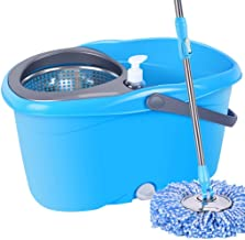 JUAN Spinning Mop Bucket Home Cleaner With Four Mop Heads, Microfibre Mop and Bucket Set,Rotating Mops Household