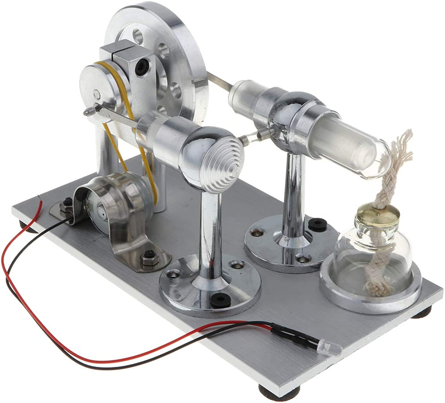Homyl External Combustion Stirling Engine Model Motor Power Electricity Generator Physical Experiment Kits Educational & Science Toy