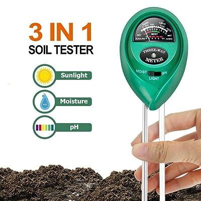 FlyCloud Soil Test Meter, Soil PH Testing Kit 3...
