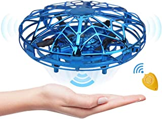 Flying Drones Toys for Kids or Toddlers,Mini Hand Operated UFO Helicopter,Easy Indoor Hand Controlled Flying Ball Drone for Boys or Girls