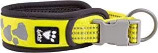 Hurtta Weekend Warrior Dog Collar, Neon Lemon, 10-14 in