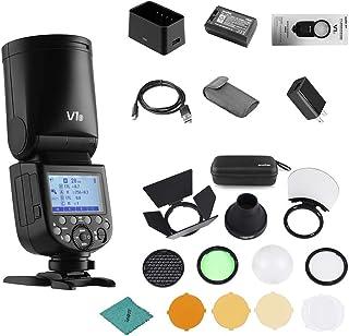 كاميرا Godox V1S Flash الاحترافية Flash Speedlite متوافقة مع Sony a7RII a7R a58 a99 ILCE6000L a7RIII a7R3 a9 a77II a77 a35...