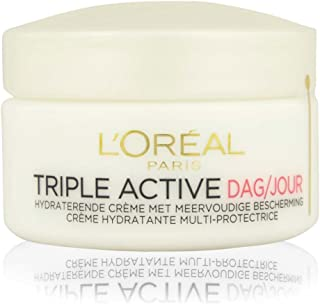 L'Oreal Triple Active Multi-Protective Day Cream 24h Hydration for Dry/Sensitive Skin, 1.7 Ounce