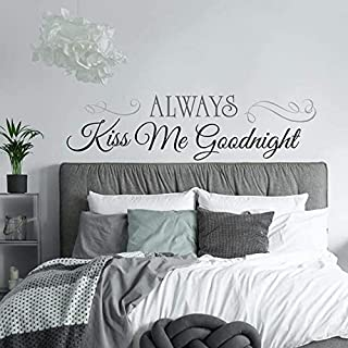 RoomMates Always Kiss Me Goodnight Quote Peel and Stick Wall Decals, 10 Inch x 18 Inch - RMK2084SCS, Black