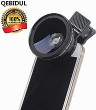 QEBIDUL Universal Clip Professional 37MM 49mmUV HD Camera Lens Kit 0.45X Super Wide Angle 12.5X Super Macro Mobile Phone Lense For iPhone 6 Plus 5S 4S Samsung S6 S5 Note 4 Xiaomi and Redmi 4