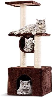 Mumoo Bear Cat Tree Triple Platforms Cat Tower Furniture with Sisal-Covered Scratching Post Pet Climbing Condo Coffee