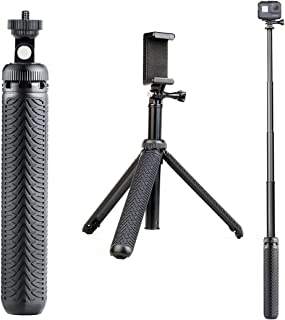 Premium Selfie Stick for GoPro Hero 8 7 6 5 4 3 3+ 2 2018 Fusion Session, ACASO, SJCAM Action Cameras, and Cell Phones and Compact Digital cams. Can be Used as Hand Grip, monopod and Tripod Stand