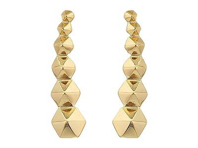 AllSaints Hex Ear Crawler Earrings (Gold) Earring