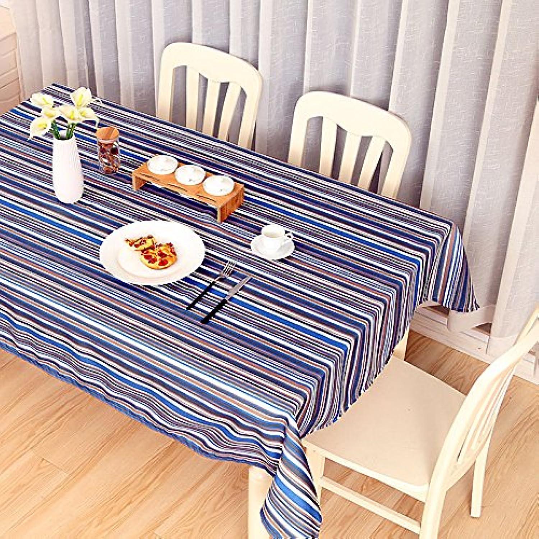 VLIMG Tischdecken , Cotton rechteckigen europäischen Tischdecken, blau gelb, 140  200CM B07B2XJL2L Hohe Qualität und geringer Aufwand | Modernes Design