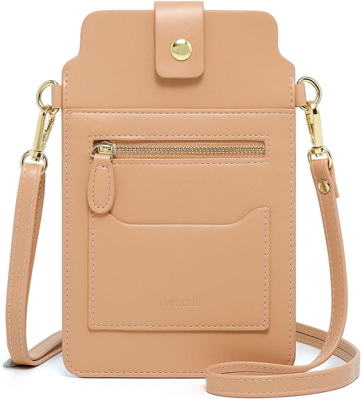 Small Crossbody Bag for Women Cellphone Wallet Shoulder Purse, Touch Screen Card Lightweight Satchel