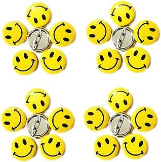 LGEGE 192PCS Mini Metal Smiley Smile Face Button Pins