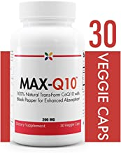 Stop Aging Now MAX-Q10 CoEnzyme Formulated with Kaneka Q10 and Enhanced BioPerine Black Pepper Extract For High Absorption, Heart Health, Energy Production 200 mg Capsules