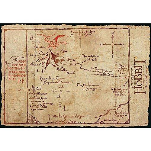 ABYstyle ABYDCO235 - Poster Der Hobbit, Einsamer Berg Karte
