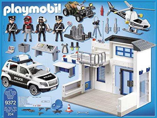 Poste de Police Playmobil 9372 Voiture Hélicoptère - 1