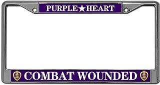 purple heart license plate frame