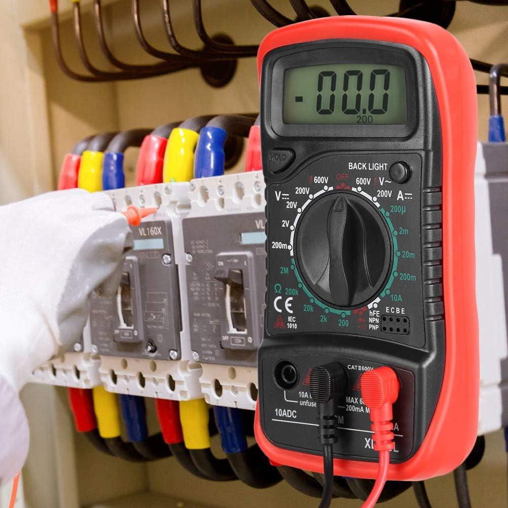 XL830L Digital Multimeter Handheld LCD Digital Multimeter,Current Voltage Tester,Plastic and Silicone XL830L Red